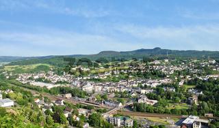 town Gerolstein, Germany in summer day