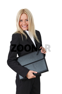 business woman portrait isolated close up