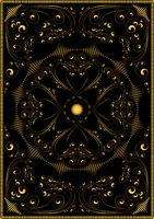 Decorative gold oriental pattern on a black backgr