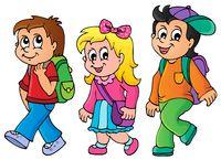 School kids theme image 3 - picture illustration.