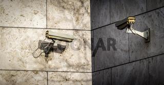 Kameras als Symbol für Überwachungswahn
