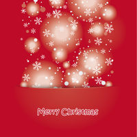 Snow Christmas Red Background