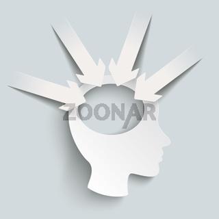 Paper Arrow White Head 4 Options PiAd