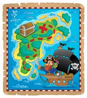 Pirate map theme image 1 - picture illustration.