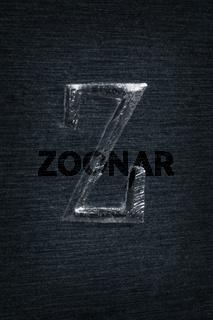 Schlagbuchstabe Z