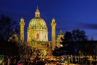 Wien Weihnachtsmarkt Karlsplatz - Vienna christmas market Charles Square 03