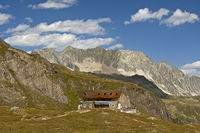 Capanna Corno Gries refuge,Ticino, Switzerland