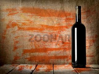 Black bottle of wine texture