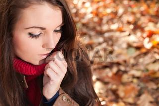 Fashion brunette in the autumn