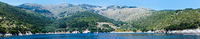 Summer Kefalonia coast panorama (Greece)