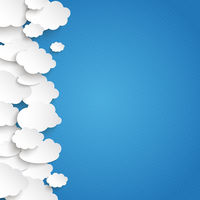 White Paper Clouds Side