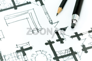 Architectural hand drawing