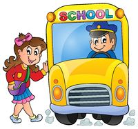 Image with school bus theme 7 - picture illustration.