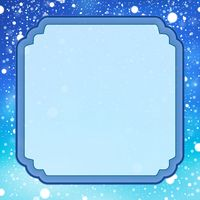 Decorative frame with snow 1 - picture illustration.
