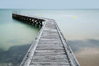 wooden pier, Grandcamp-Maisy, Normandy, France