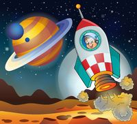 Image with space theme 3 - picture illustration.