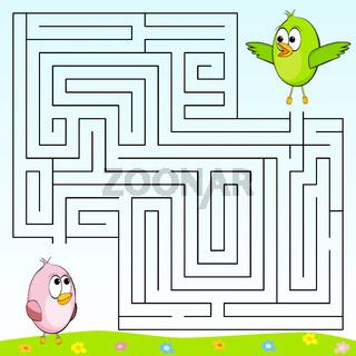 Finde den richtigen Weg durch das Labyrinth