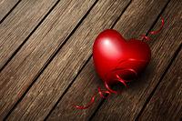 Heart On A Wood Board