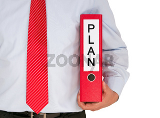 Businessman with Plan