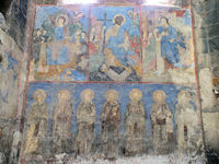 Close up of Akhtala Monastery Frescoes