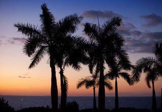 Sunset over the sea. Cuba