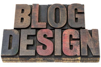 blog design in wood type