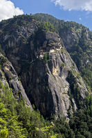 Cliff with the Tiger's Nest Monastery,Bhutan
