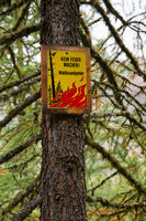 Warning sign Forest Fire Prevention in Switzerland