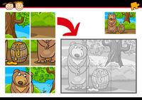cartoon bear jigsaw puzzle game