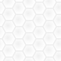 Seamless honeycomb light gray pattern - white and black simple graphic modern background