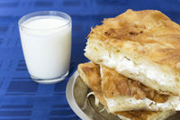 Burek and yogurt