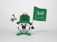 Soccer character fan supporting Saudi Arabia