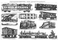 special railway wagons, 19th century