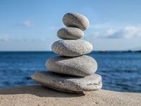 pebbles pyramid zen