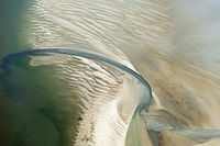 Aerial view from the Schleswig-Holstein Wadden Sea