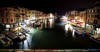 Venice at night - Night view from the Rialto Bridge