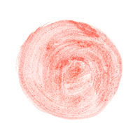 Round watercolor brush stroke