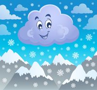 Winter cloud theme image 2 - picture illustration.