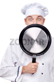 chef with pan