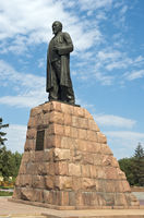 Monument to the poet Abai Kunanbaev, Almaty, Kazak