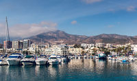 Day view of Puerto Marina. Benalmadena, Spain