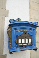 Old letterbox at the marketplace in Hattingen, Ger