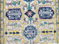 Tiles at the Blue Mosque in Yerevan