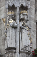 Emperor Otto I. and Adelaide, historic Town hall, Brunswick, Germany