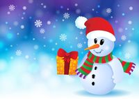 Christmas snowman theme image 3 - picture illustration.