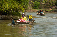 Motorboat on the Sangkae River, Cambodia