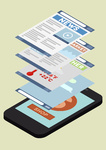 phone application isometric