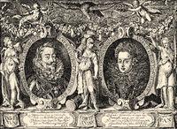 Emperor Matthias von Habsburg, 1557-1619, Archduchess Anna of Austria