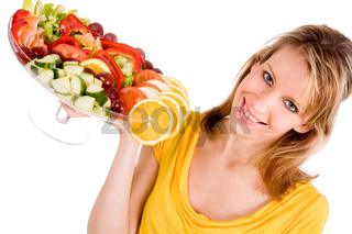 Presenting the salad