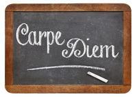 Carpe Diem on blackboard